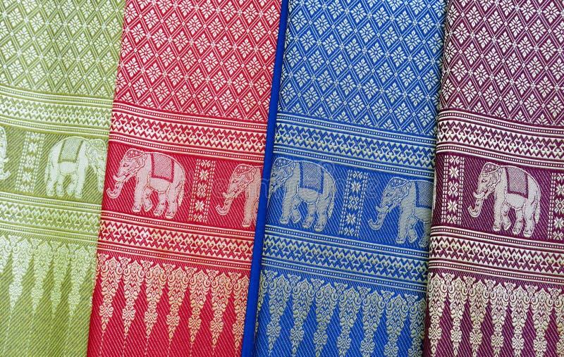 Materia textil vietnamita tradicional imágenes de archivo libres de regalías