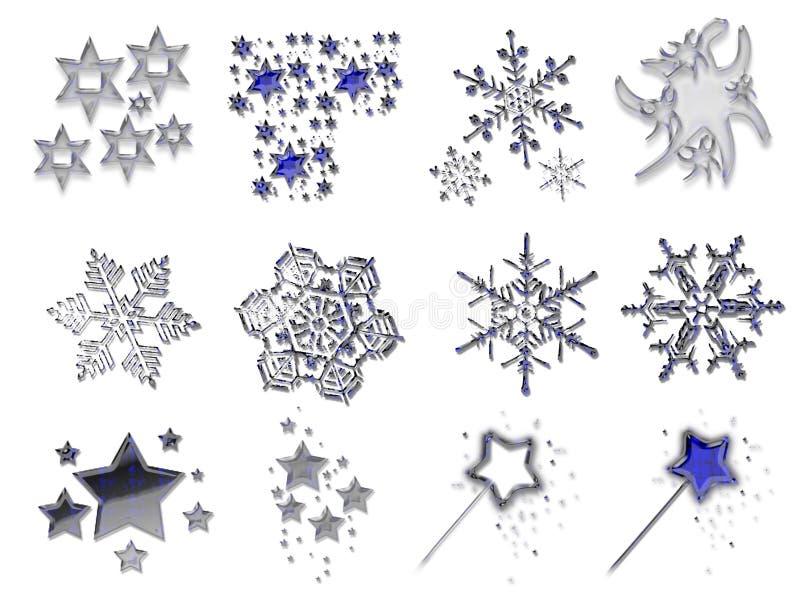 Materiaal 1 van Kerstmis royalty-vrije illustratie
