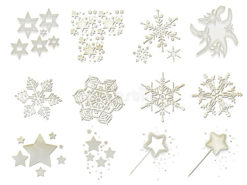 Materiaal 2 van Kerstmis vector illustratie