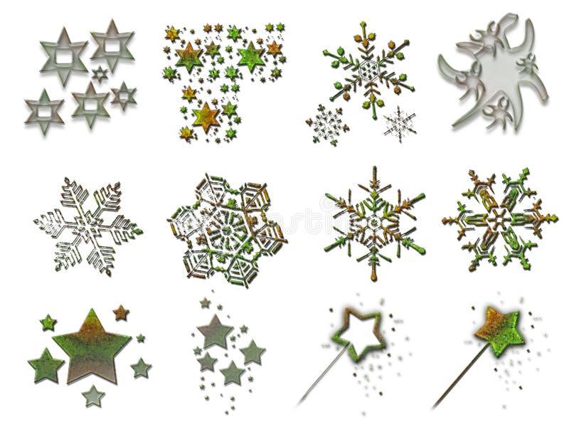 Materiaal 3 van Kerstmis stock illustratie