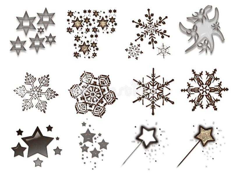 Materiaal 4 van Kerstmis royalty-vrije illustratie