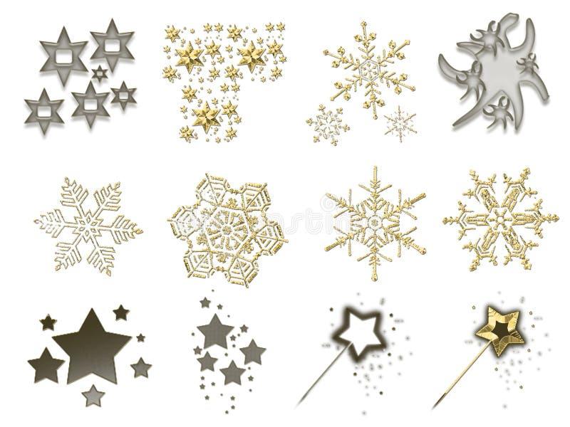 Materiaal 5 van Kerstmis vector illustratie