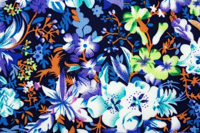 Materiaal met bloemen, een achtergrond stock foto