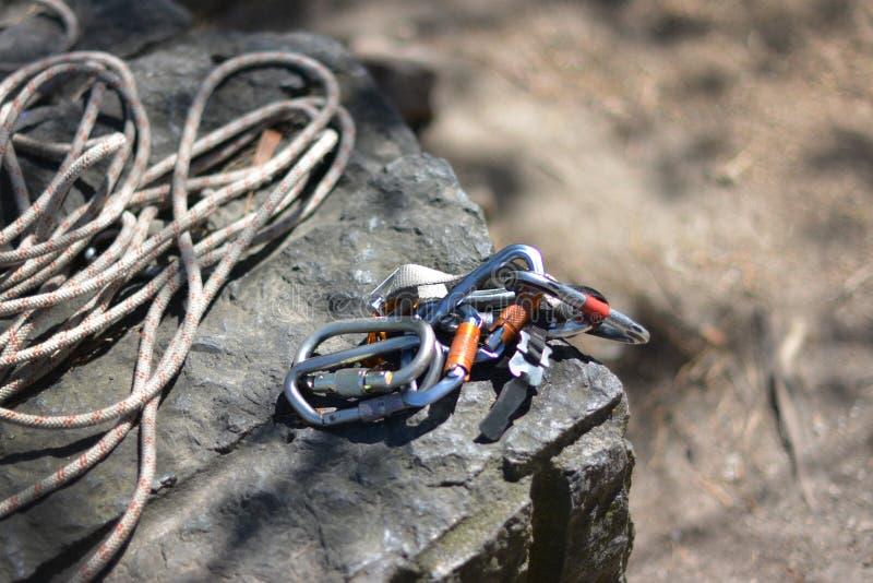 Materiaal om te beklimmen en actieve rust royalty-vrije stock foto's