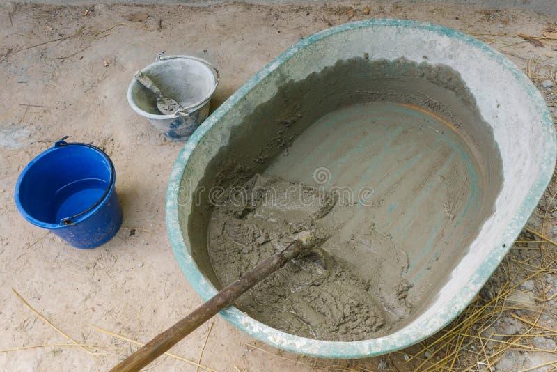 Materiaal voor cementmuren royalty-vrije stock foto