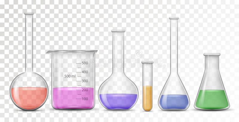 Materiaal voor chemisch laboratorium stock illustratie