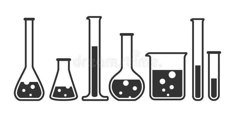 Materiaal voor chemisch laboratorium vector illustratie