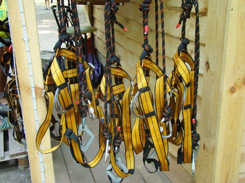 Materiaal voor industrieel alpinisme stock afbeeldingen