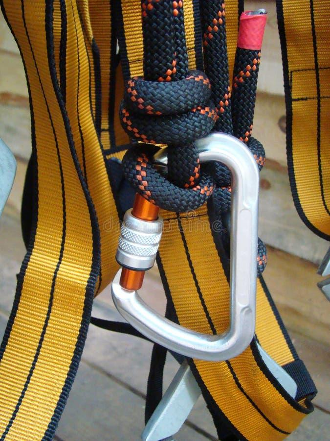 Materiaal voor industrieel alpinisme stock foto's