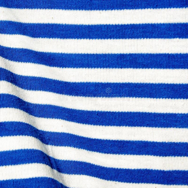 Materiaal in wit en blauw stock fotografie