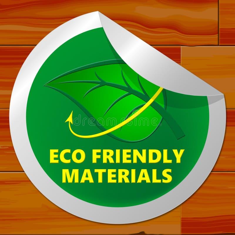 Materiais amigáveis de Eco que significam a ilustração verde dos recursos 3d ilustração stock