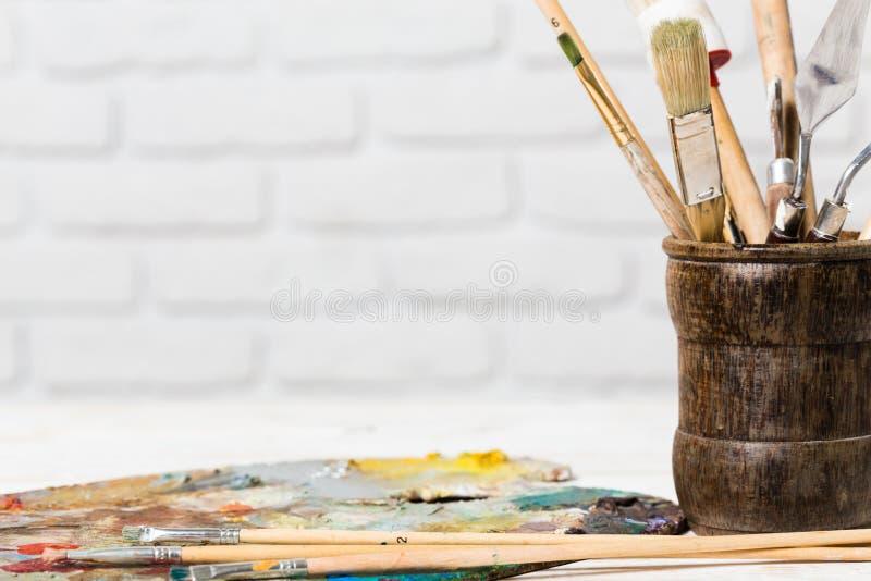Materiais da arte foto de stock