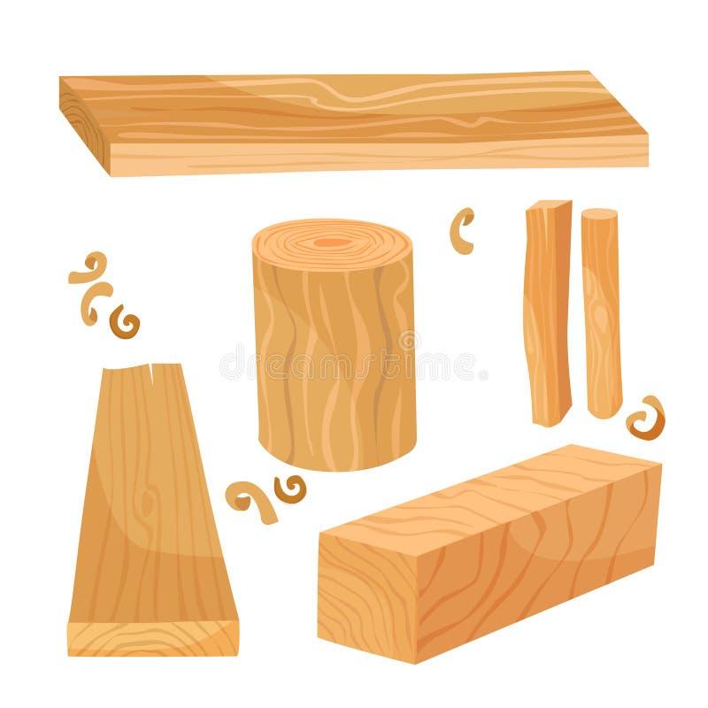 Materiais da madeira ilustração stock