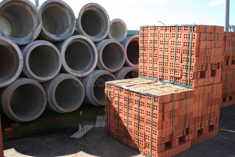 Materiais de construção fotografia de stock