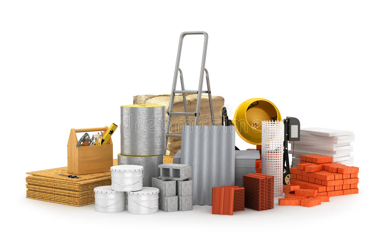 Materiais de construção, ilustração royalty free