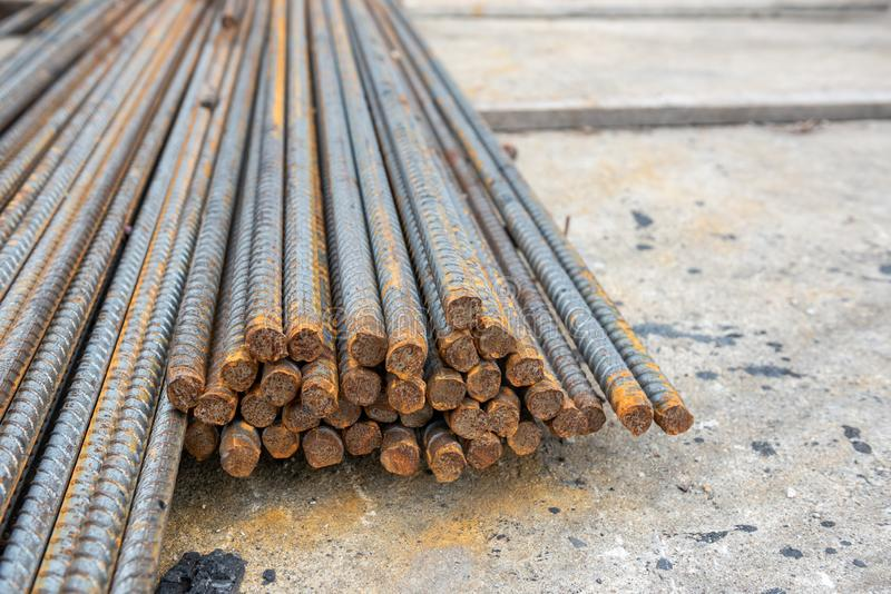 Materiais de construção de aço para construir imagens de stock royalty free