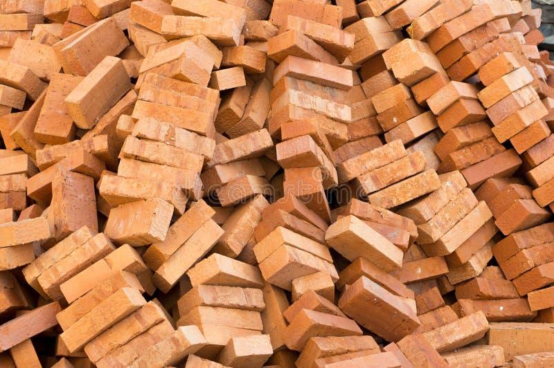 Materiais de construção do tijolo foto de stock royalty free