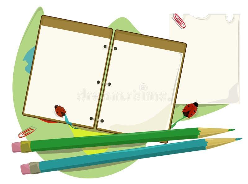 Materiais de escritório ilustração stock
