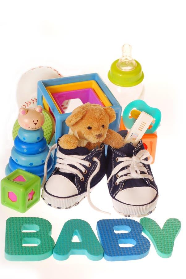 Materiais do bebé fotografia de stock royalty free