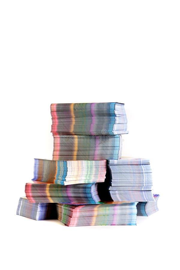 Materiais impressos fotografia de stock