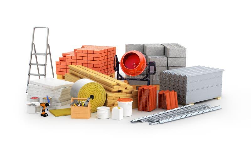 Materiais para a construção ilustração do vetor