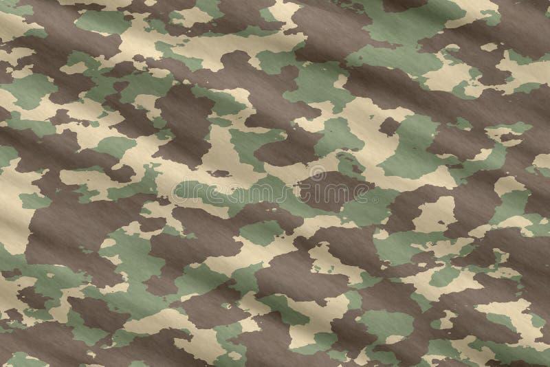 Material camuflar de Camo ilustração stock