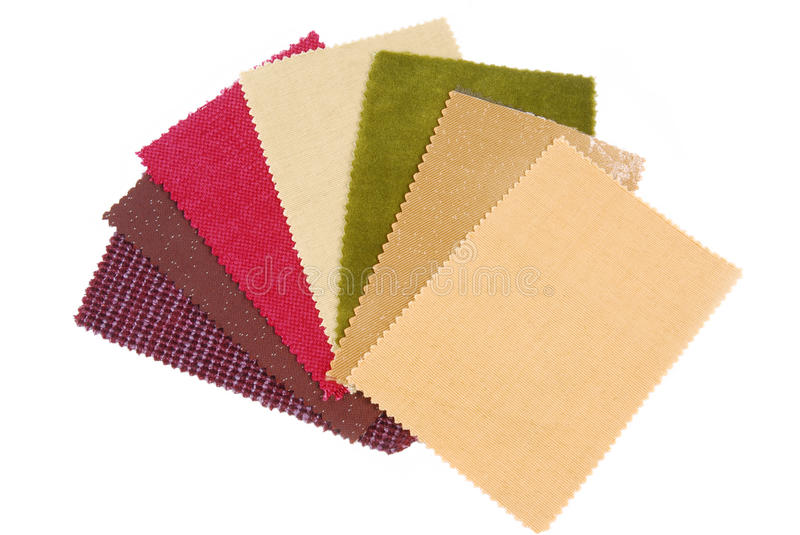 Material choice. Interior color design material choice stock images
