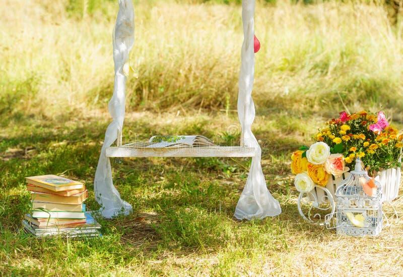Material da decoração para o casamento imagem de stock