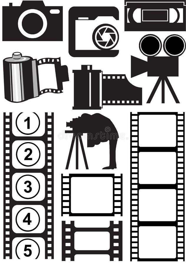 Material da foto e do vídeo ilustração do vetor
