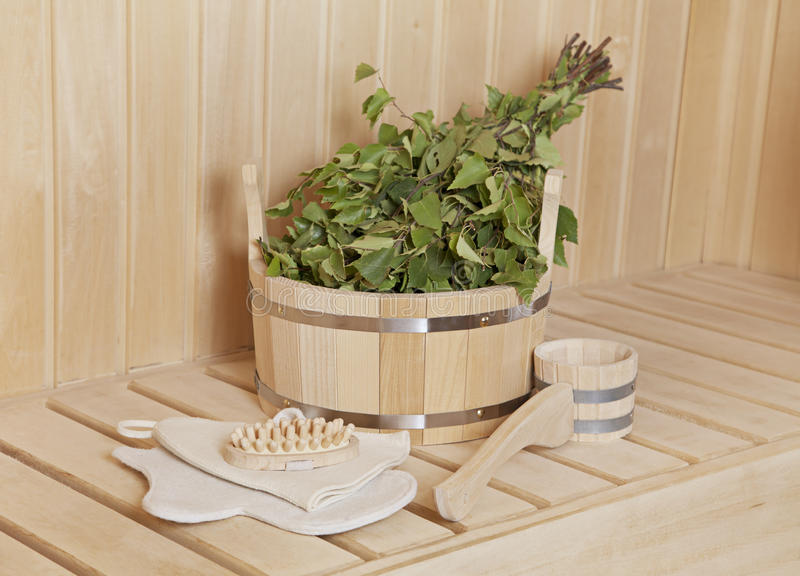 Material da sauna foto de stock royalty free