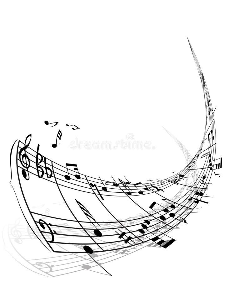 Material das notas musicais ilustração do vetor