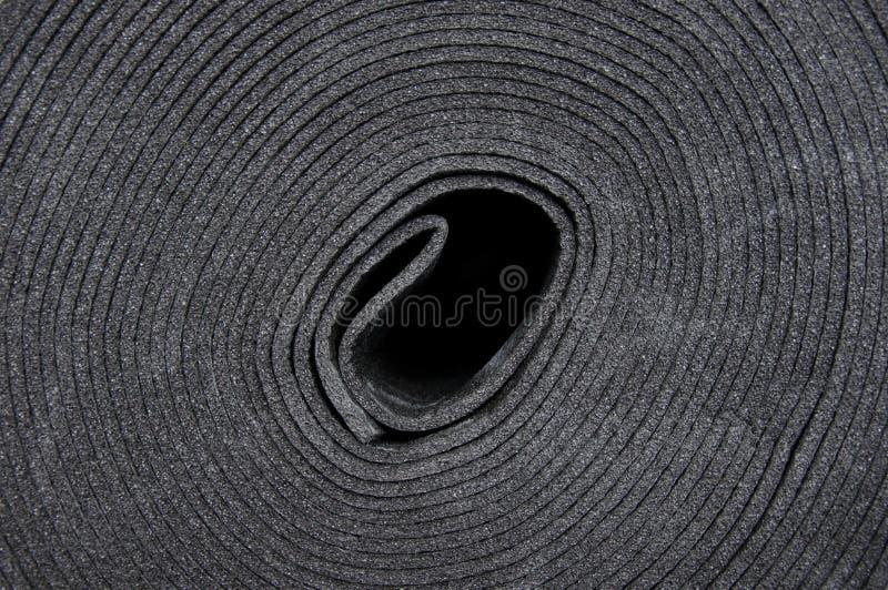 Material de aislamiento sano, puesto en el piso antes de concreting imágenes de archivo libres de regalías