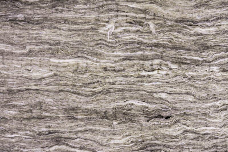 Material de aislamiento t?rmico, lana de roca Capa termal del aislamiento del tejado Lanas minerales o fibra mineral, algodón min fotos de archivo