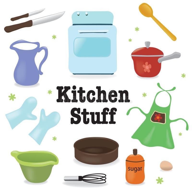 Material de cozinha ilustração do vetor