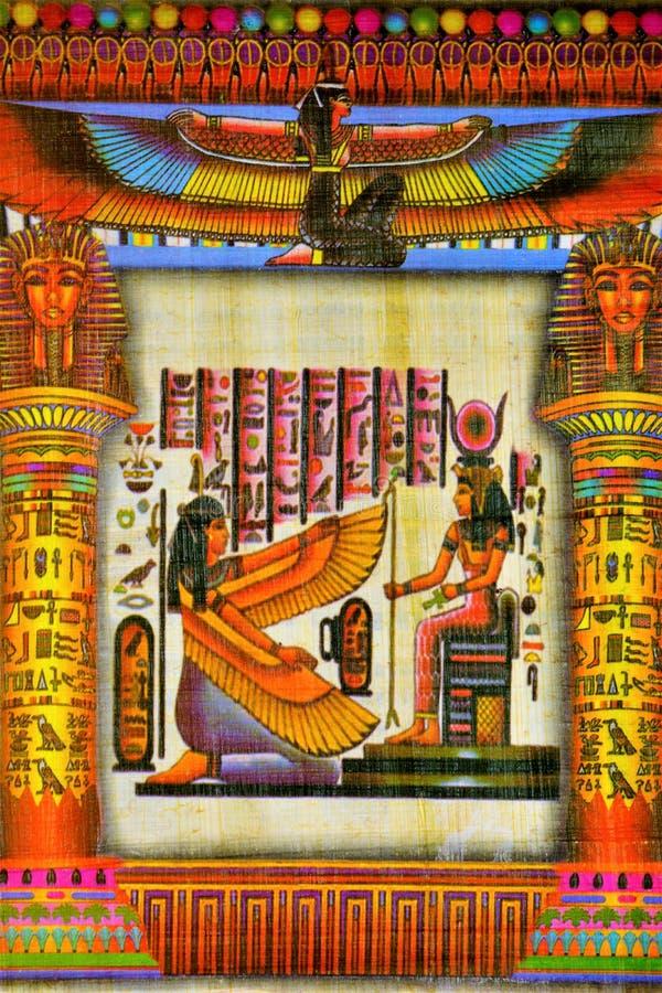 Material de escrita do papiro, nas épocas antigas comuns em Egito, e mais tarde no espaço inteiro do mundo antigo Papiro fotografia de stock royalty free