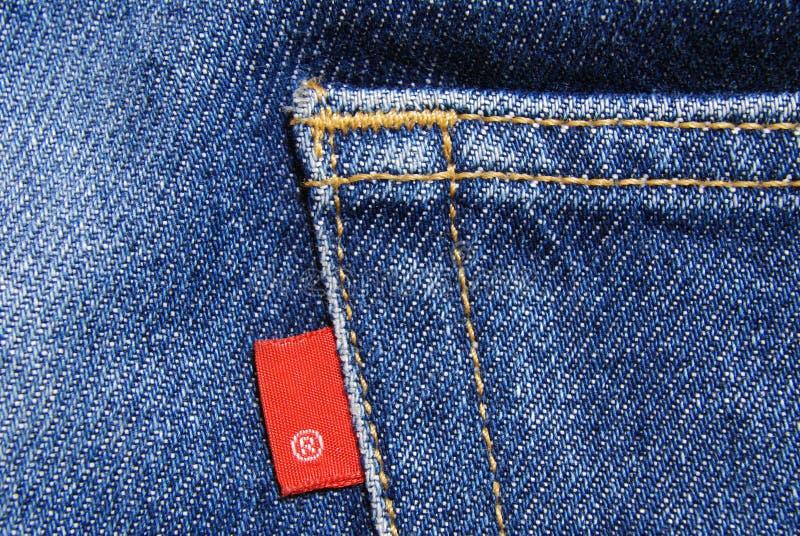 Material del algodón del dril de algodón de los pantalones vaqueros fotografía de archivo