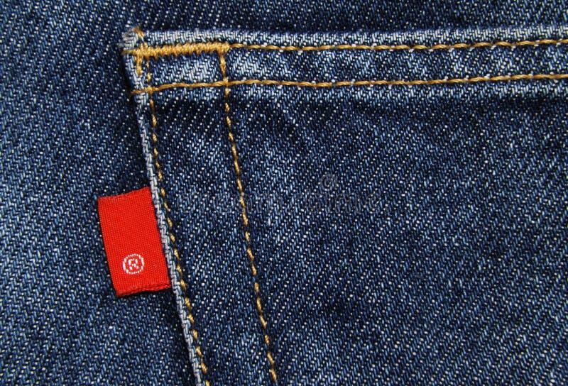 Material del algodón del dril de algodón de los pantalones vaqueros imagenes de archivo