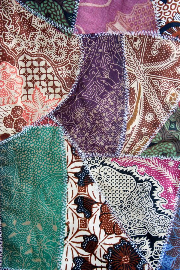 Material del edredón loco de la tela del batik imagen de archivo
