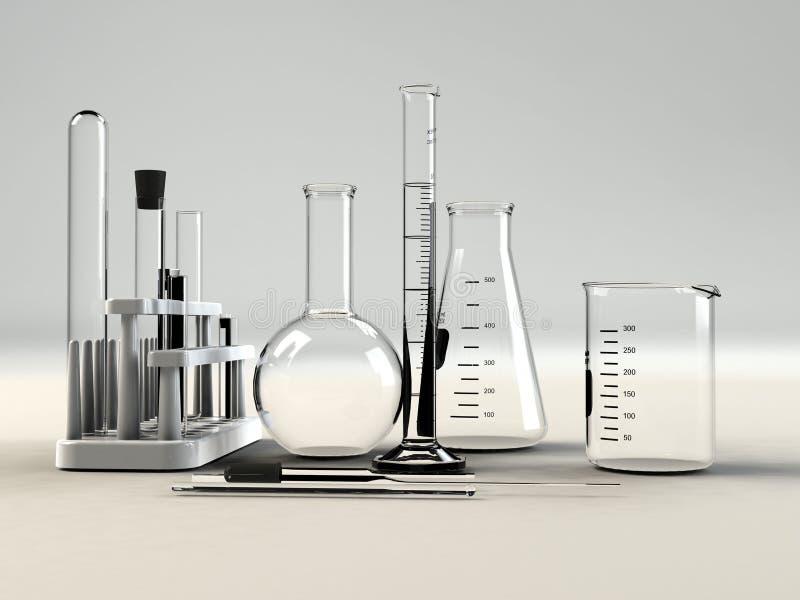 Material del laboratorio imagen de archivo