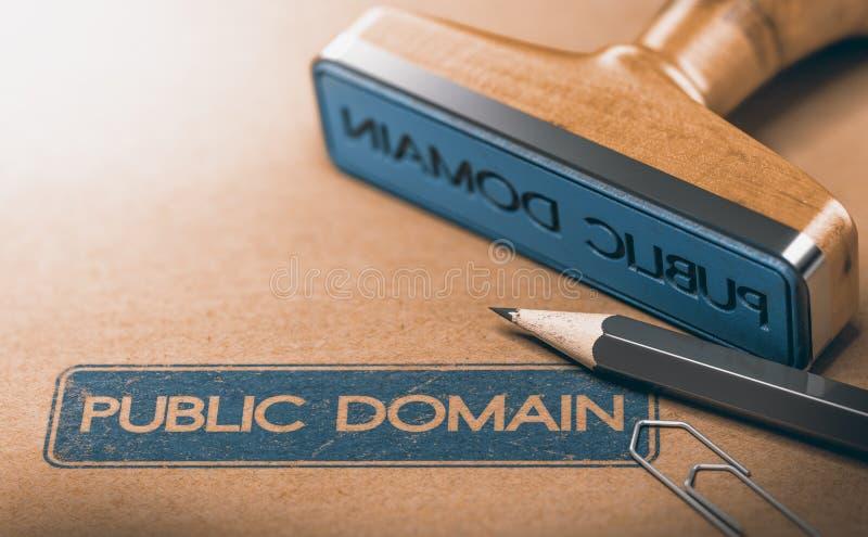 Material del public domain Los derechos de propiedad intelectual expiraron ilustración del vector