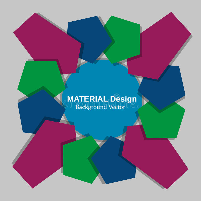 Material design concept royalty free illustration