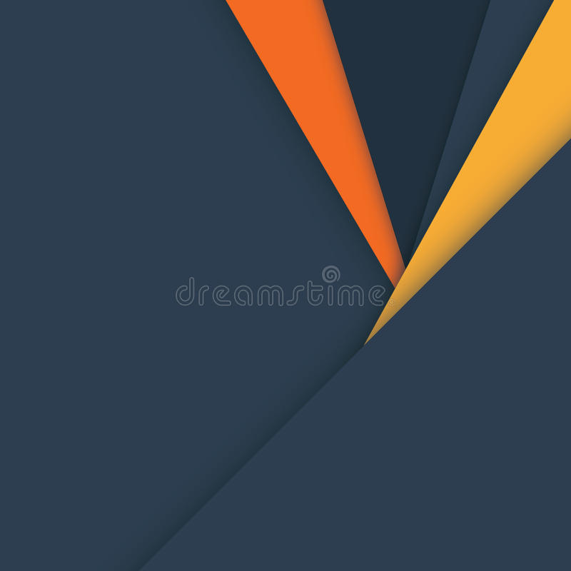 Material design vector background in dark grey and orange colors. royalty free stock photos