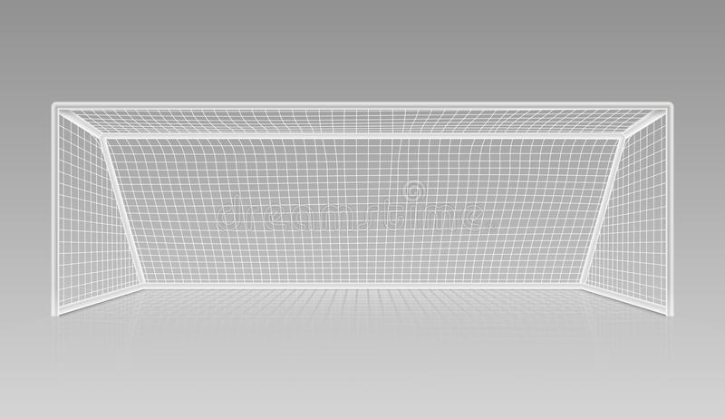 Material desportivo realístico do objetivo do futebol do futebol ilustração do vetor