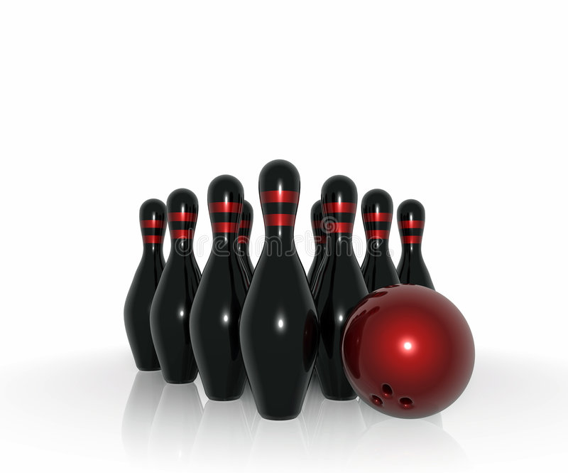 Material do bowling ilustração royalty free