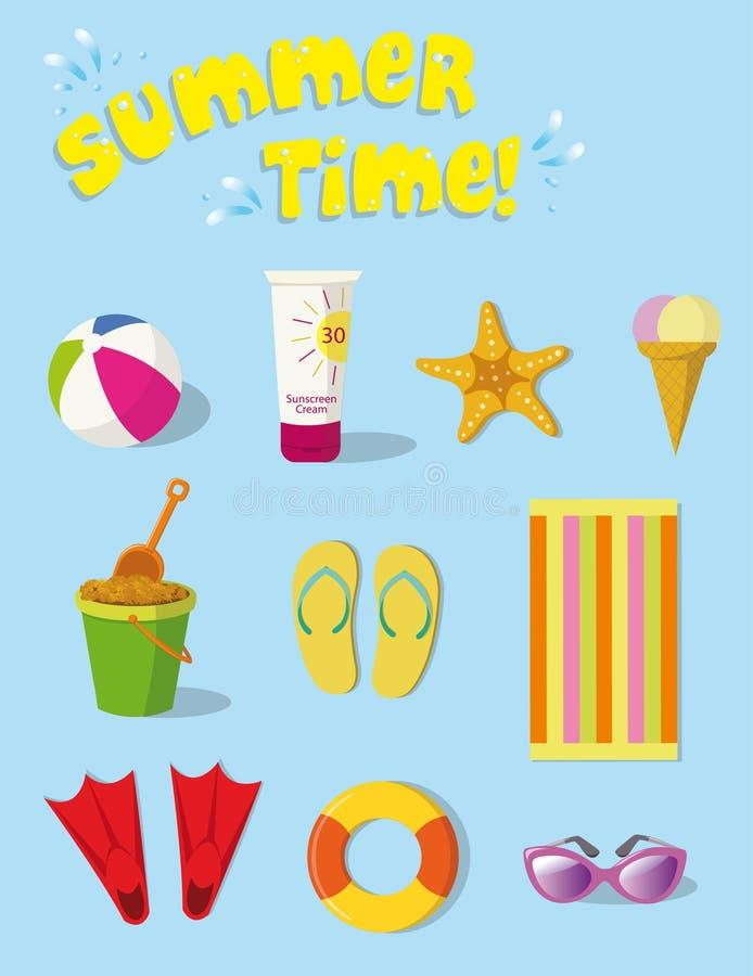 Material do verão ilustração do vetor