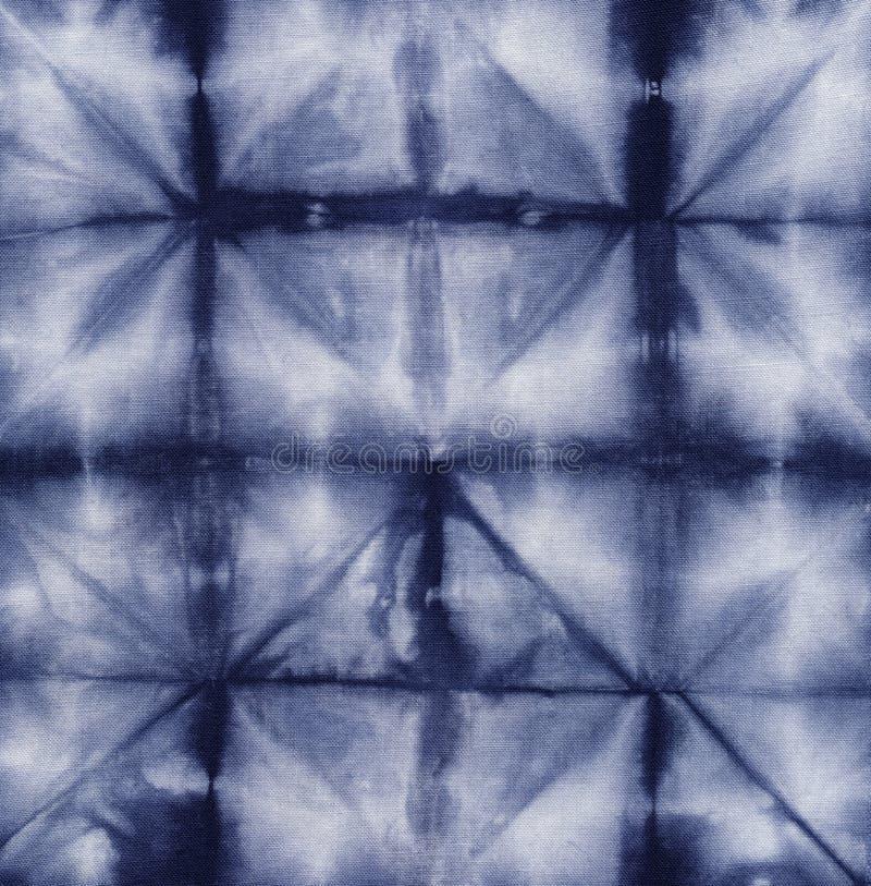 Material dyed batik. Shibori royalty free stock photography