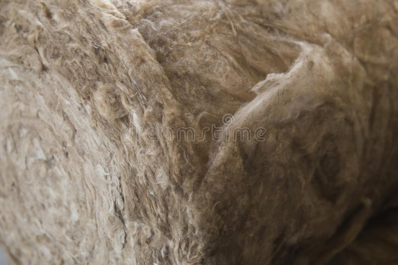 Material of glass mineral wool insulation sheet stock images
