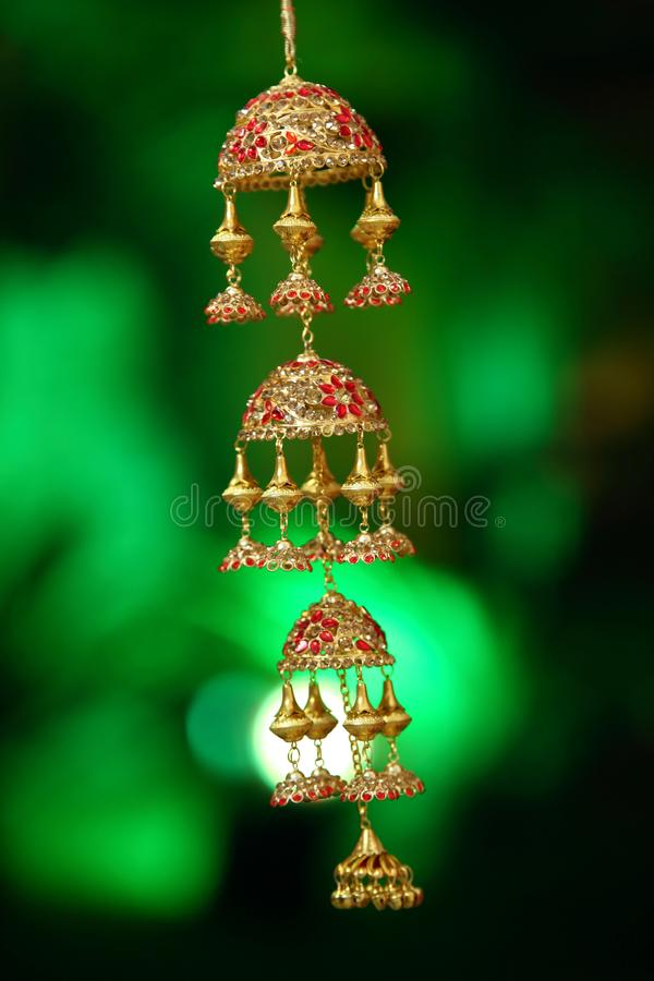Material nupcial conhecido como Kaleerein na Índia foto de stock