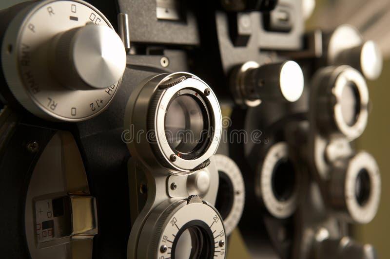 material optometry arkivfoton