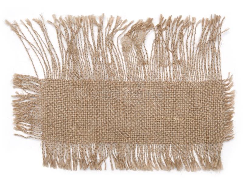 material sackcloth arkivfoto